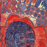 193/06,' Parmatt Jjila' 75x52 cm, Acrylic on paper