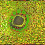 4/09,'Jila (Waterhole)',56x76 cm, Acrylic on paper