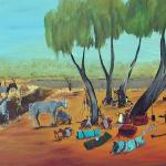 7/11, 'Mustering Day's, 60x120cm, Acrylic on canvas