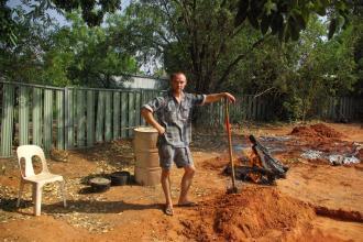 Me! (Guy) making some damper pits