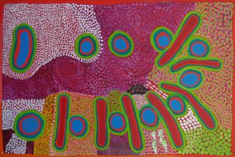 Ngurntakura Wangki - Paintings by senior Walmajarri artist Amy Ngurnta Nuggett