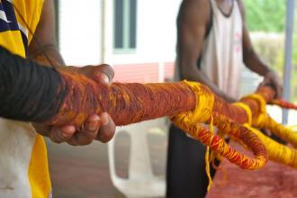 Headdress Making 2012 - Wayampajarti